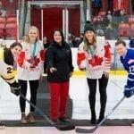 Team Canada Women's Hockey and Grindstone